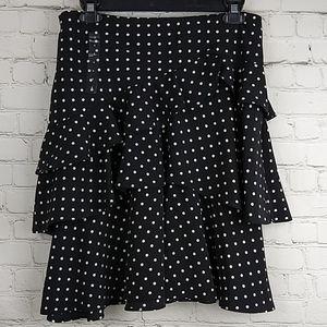 Lauren Ralph Lauren Black Pearl Polka Dot Skirt 4